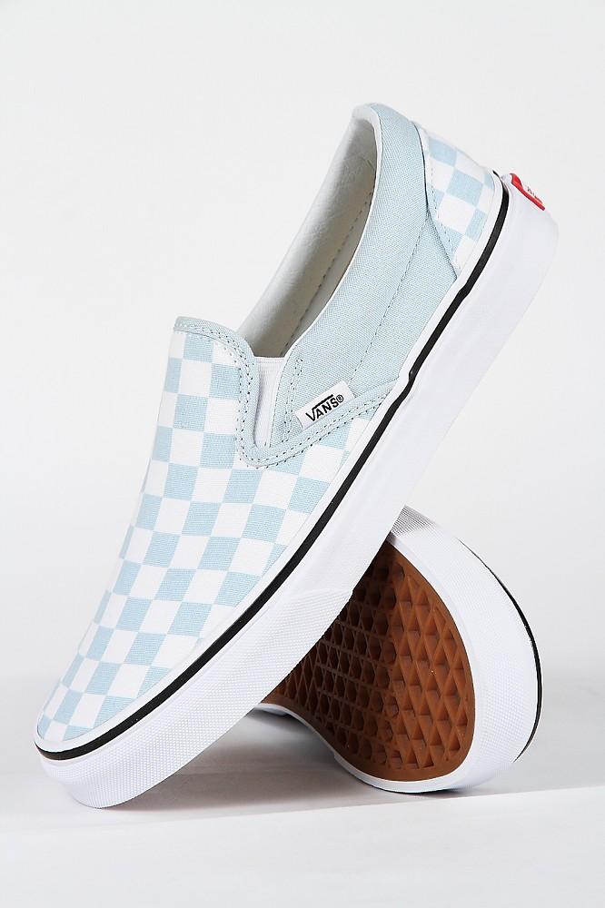 Vans Classic Slip On Checkerboard Baby Blue Sneaker